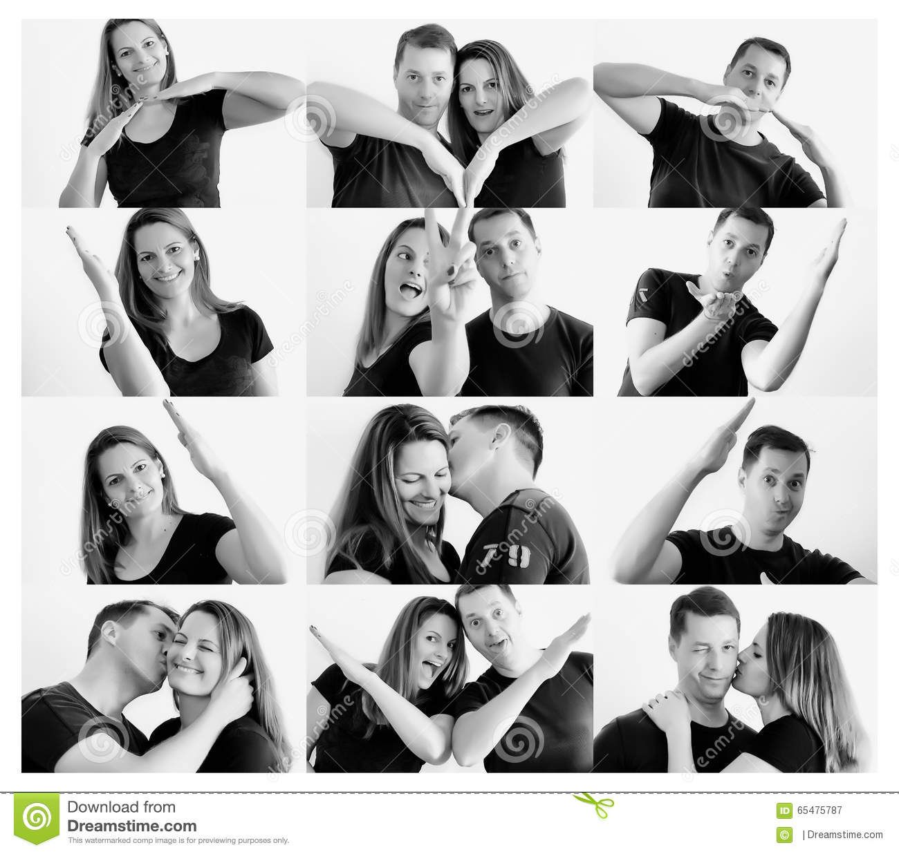 Young Happy Couple Making Heart Shape With Arms Photo About Adorable Kissing Collage Heartshape Heart Photo Collage Heart Shaped Photo Collage Photo Heart