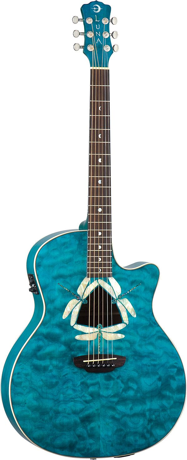 Luna Guitars - Fauna Dragonfly - acoustic electric guitar