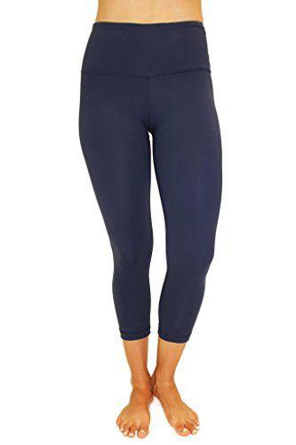 2a3fdc71c71d7 90 Degree By Reflex – High Waist Tummy Control Shapewear – Power Flex Capri  Legging – Quality Guaranteed - Midnight Navy Large