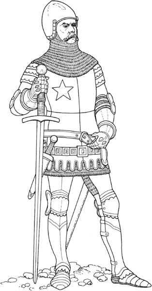 Kolorowanka Rycerz Coloring Pages Castle Coloring Page Knight