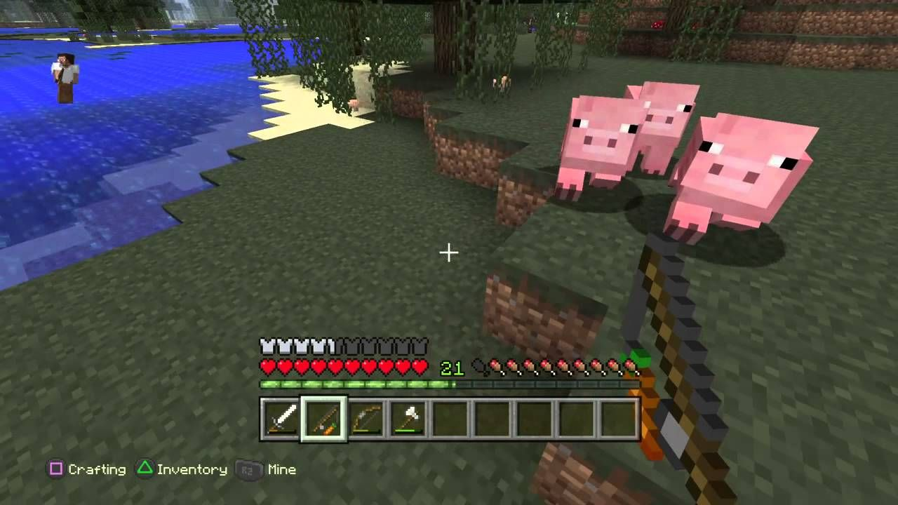 Minecraft: farming tutorial : pigs