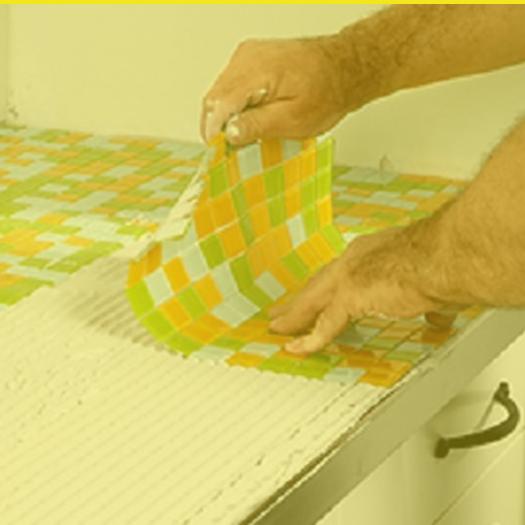 mosaik fliesen als k chen arbeitsplatte k chen pinterest k chen arbeitsplatten. Black Bedroom Furniture Sets. Home Design Ideas