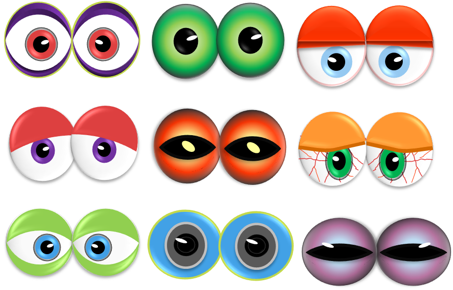 photo about Free Printable Eyes titled Toss a Monster Eyes Bash! Monsters eyes Monster eyes