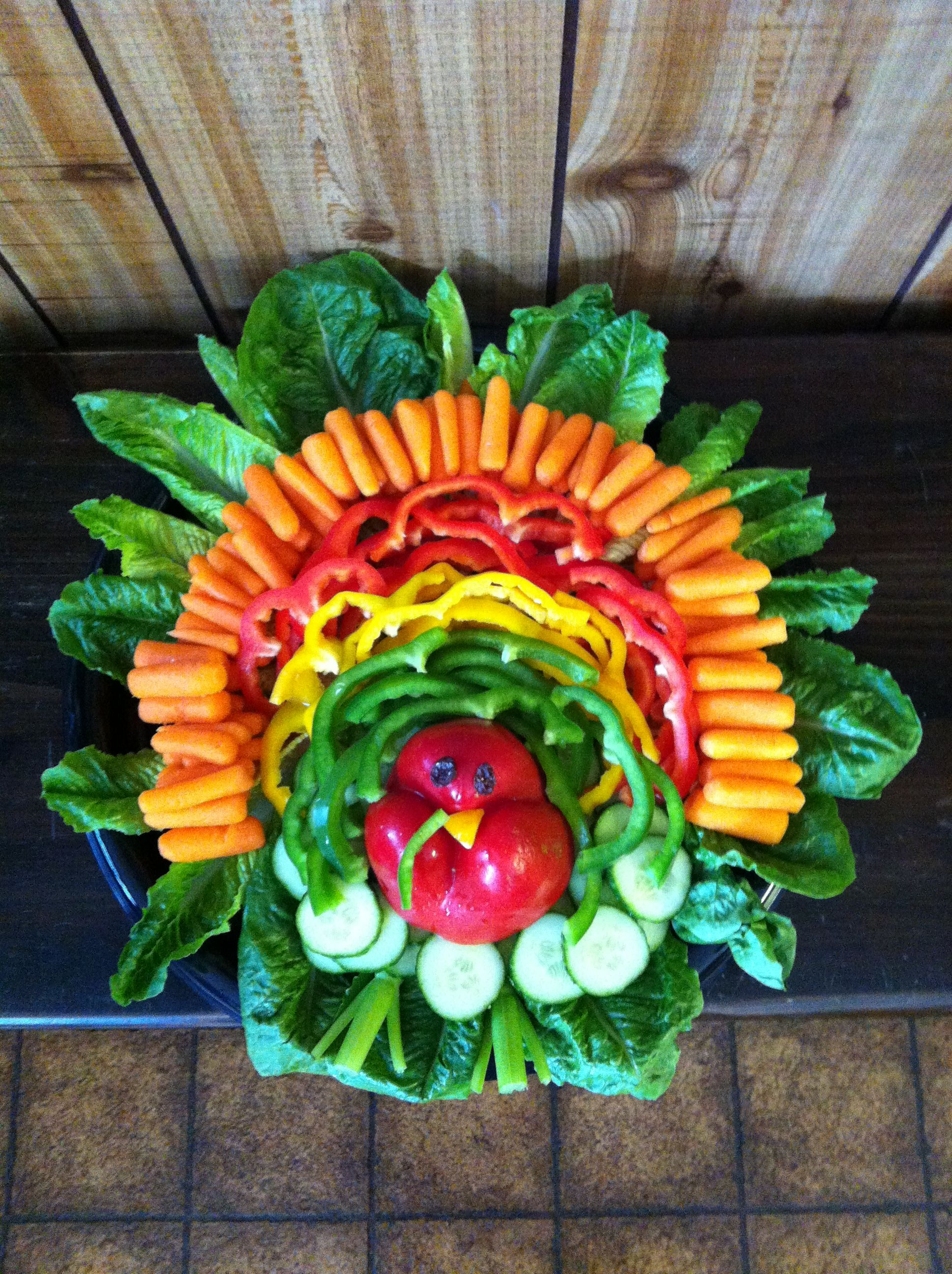 Decorative Relish Tray For Thanksgiving Classy Vegetarian Turkey For Thanksgivingveggie Turkeydiy Vegetable Design Inspiration