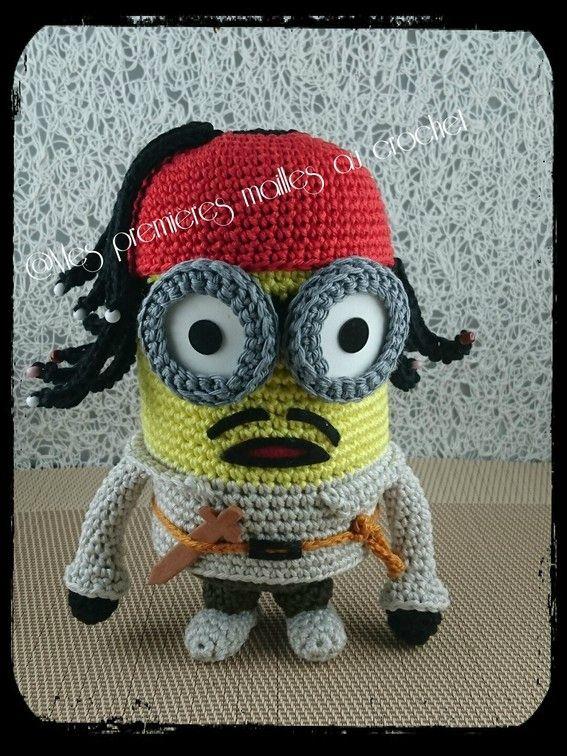 Minion Jack Sparrow | Crochet | Pinterest | Minion häkeln, Häckeln ...