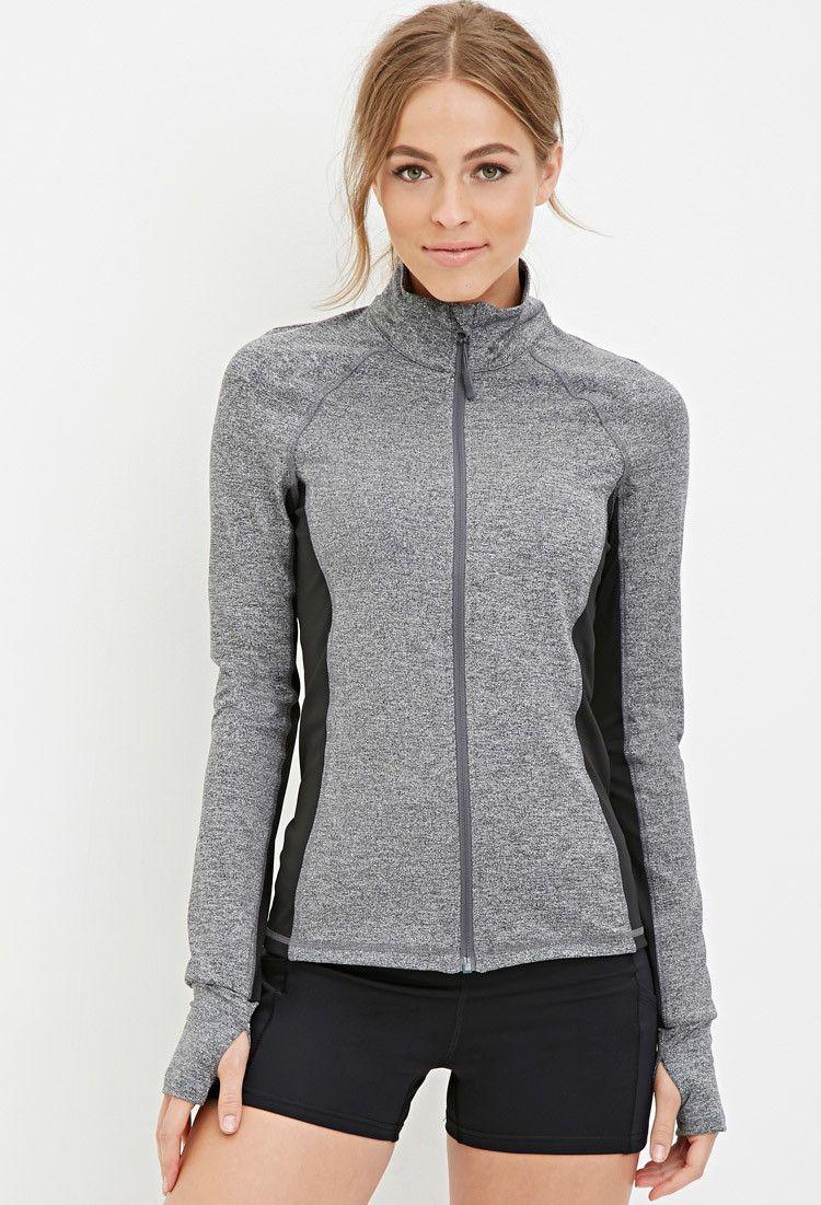Marled Track Jacket Activewear Jackets + Hoodies