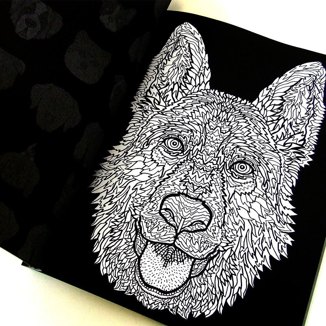German Shepherd Illustration From The Detailed Dogs Coloring Book Visit Complicatedcoloring