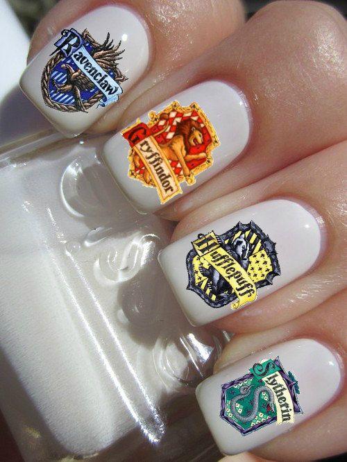 Harry Potter Gryffindor Slytherin Ravenclaw Hufflepuff Nails