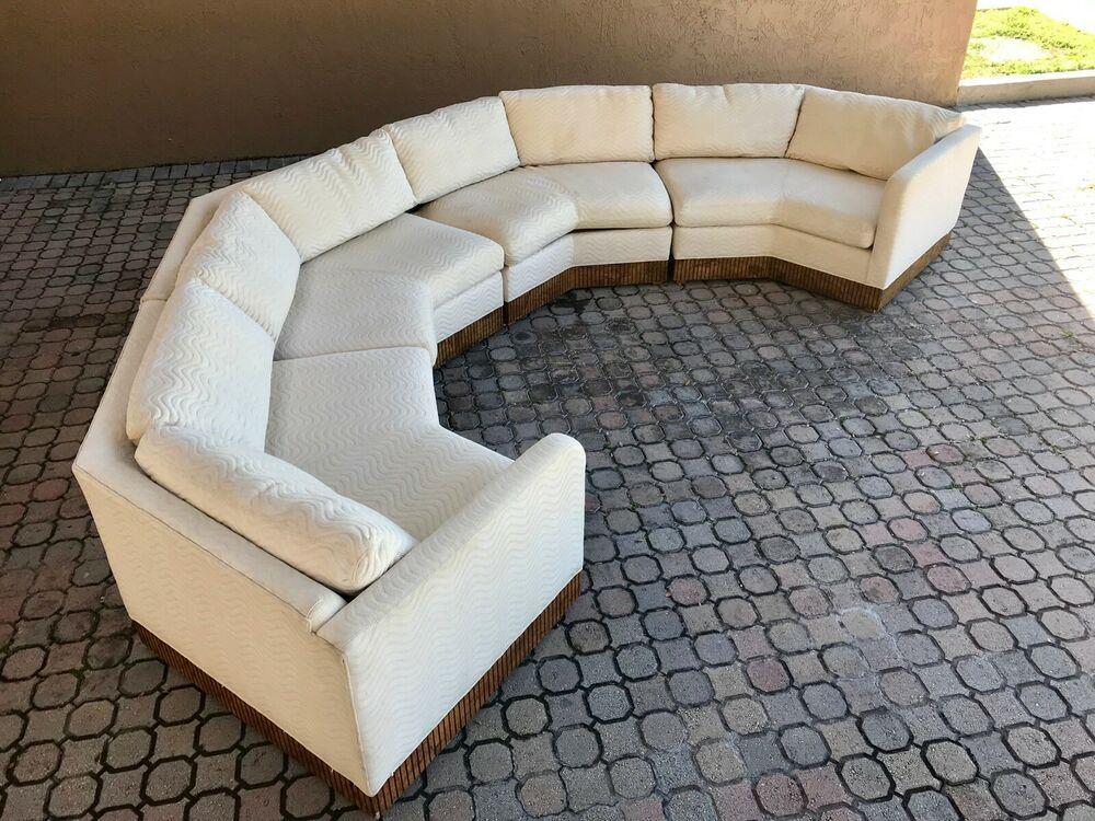 Amazing Milo Baughman Style Curved Hexagon Sectional Sofa By Inzonedesignstudio Interior Chair Design Inzonedesignstudiocom