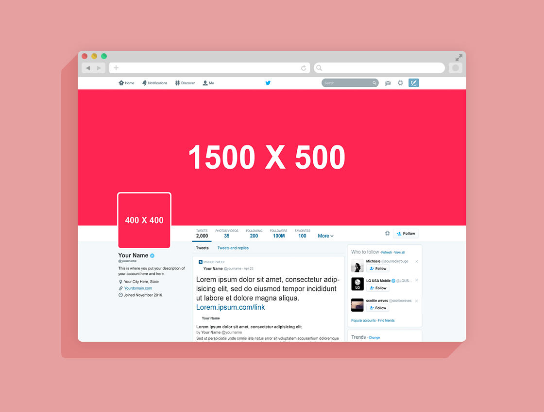 Miraculous Free Mockup Of 2016 Twitter Page Header Go Give Some Love To Anthonyboyd For Creating This Top Notch Twitter Mockup Website Mockup Free Free Mockup