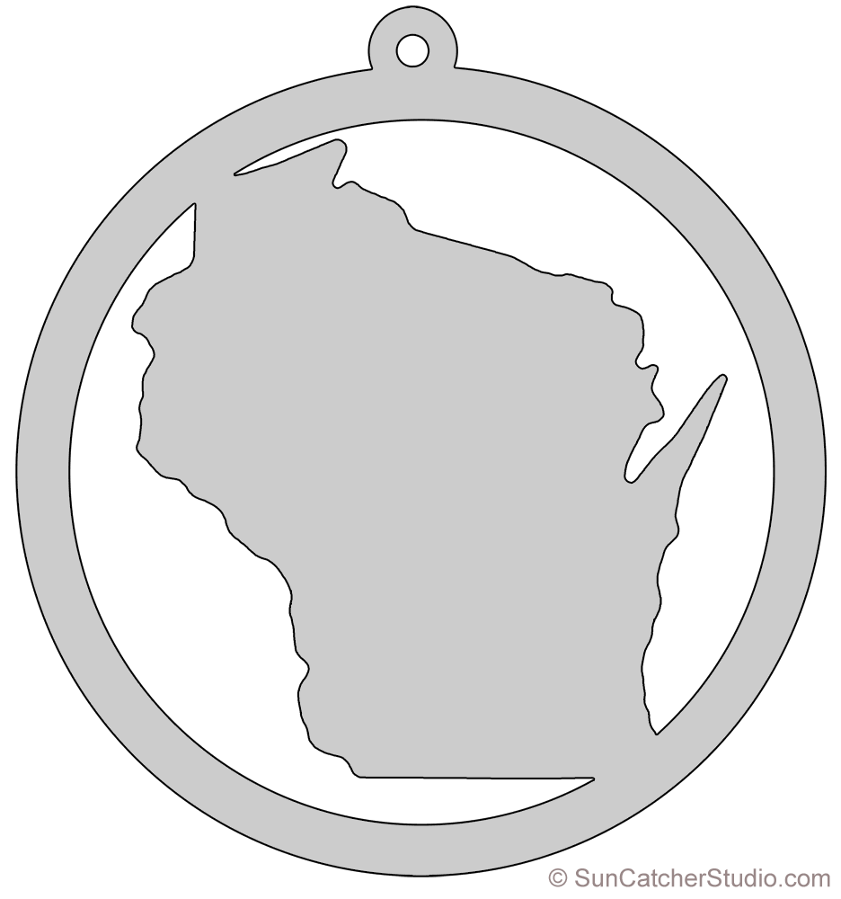 Wisconsin Map Outline Printable State Shape Stencil Pattern Scroll Saw Patterns Scroll Saw Patterns Free Scroll Saw