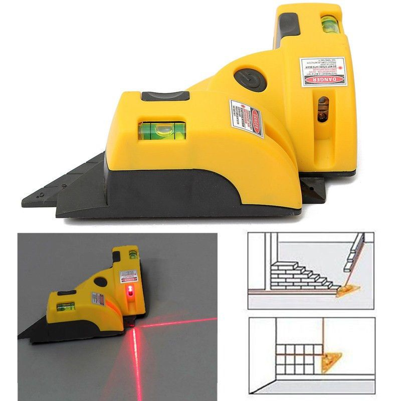 New Vertical Horizontal Laser Line Projection Square Level Right 90 Degree Uk Angle Square Angle Measuring Tool Measurement Tools
