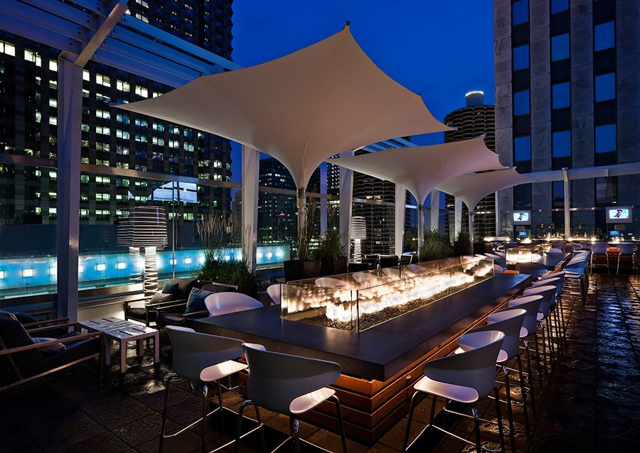 The Johnson Studio At Cooper Carry Architecture Design Roof The Wit Hotel Chicago Green Roof Chicago Hotels Rooftop Bar