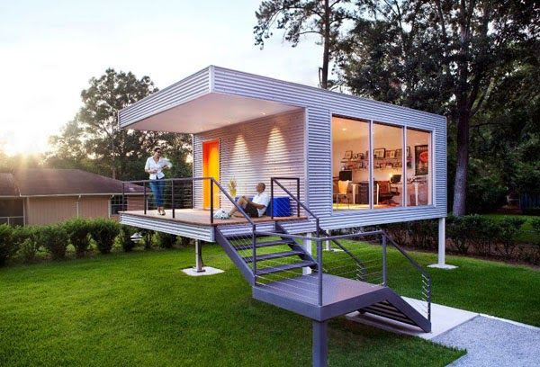 tiny house with balcony view