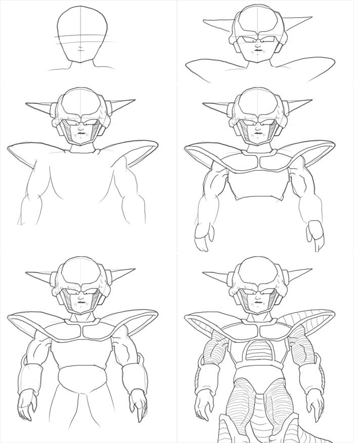 How To Draw Frieza Form 1 Dragon Ball Painting Dragon Ball Artwork Dragon Ball Art