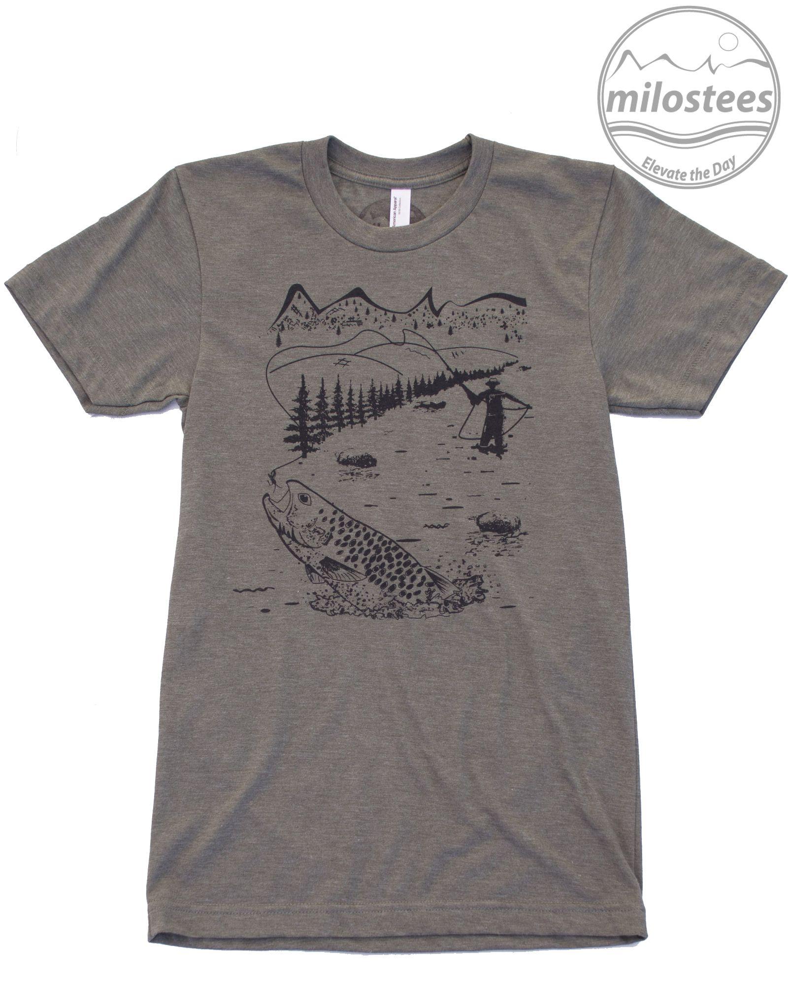 Graphic Fly Fish Shirt Soft Wear Fly Fishing Shirts Fishing Shirts Shirts