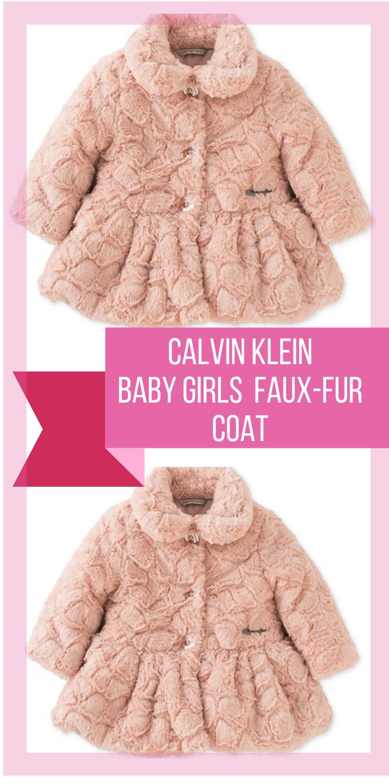 c30ef32f1 Baby Girls Crackled Faux-Fur Coat