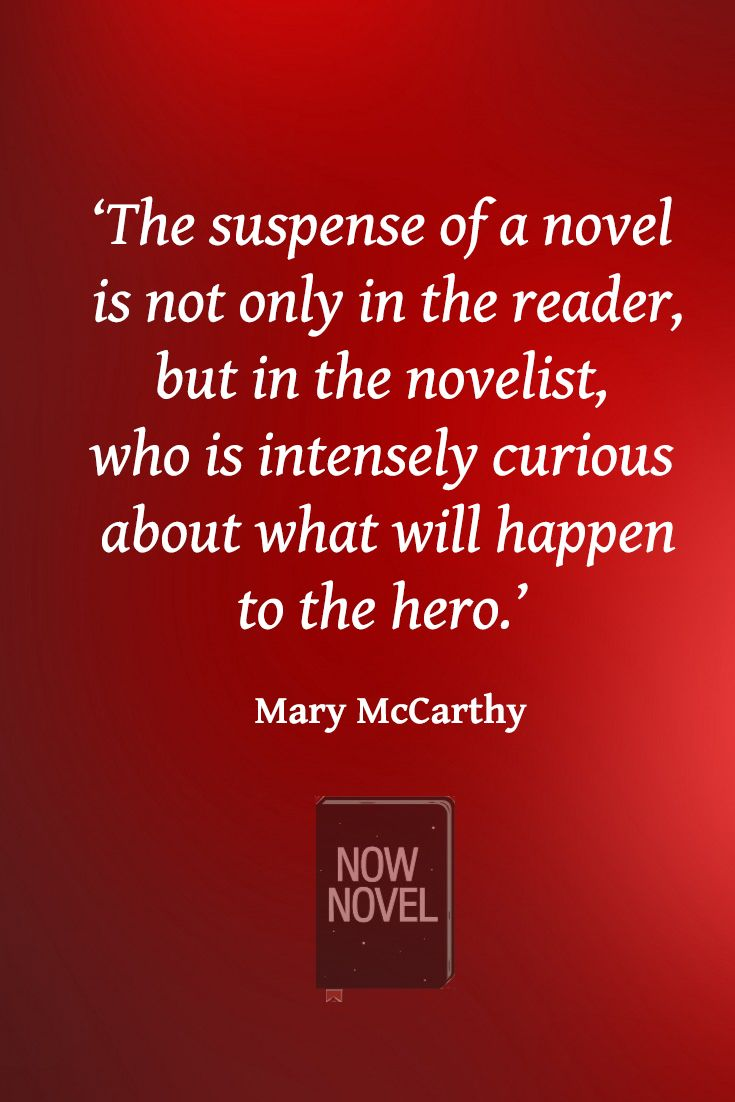 How to create tension in writing - picture quote on suspense