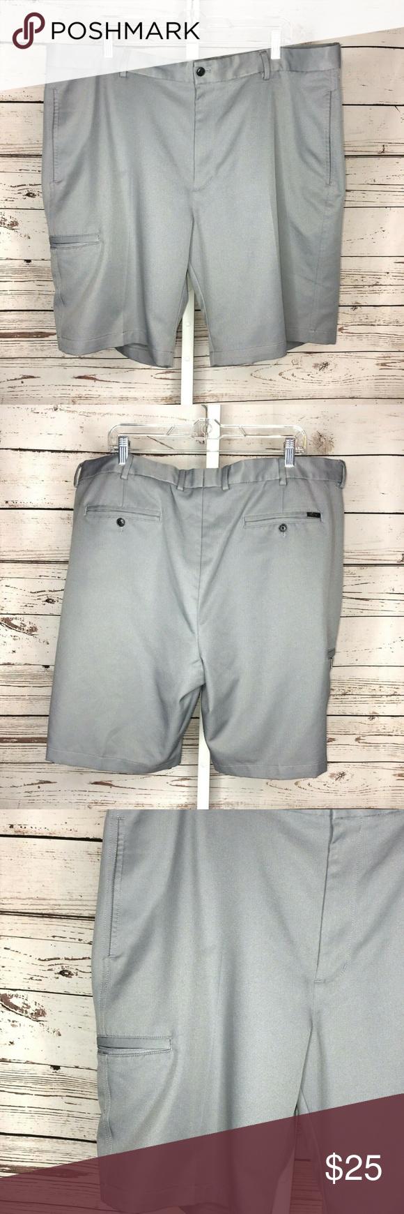 Greg Norman Gray Golf Shorts Size 40 Golf Shorts Shorts Clothes Design