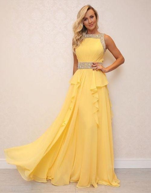 1c8041d1c Vestido de festa amarelo para madrinhas e convidadas t