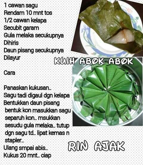 Kuih Abuk Abuk Food Recipes