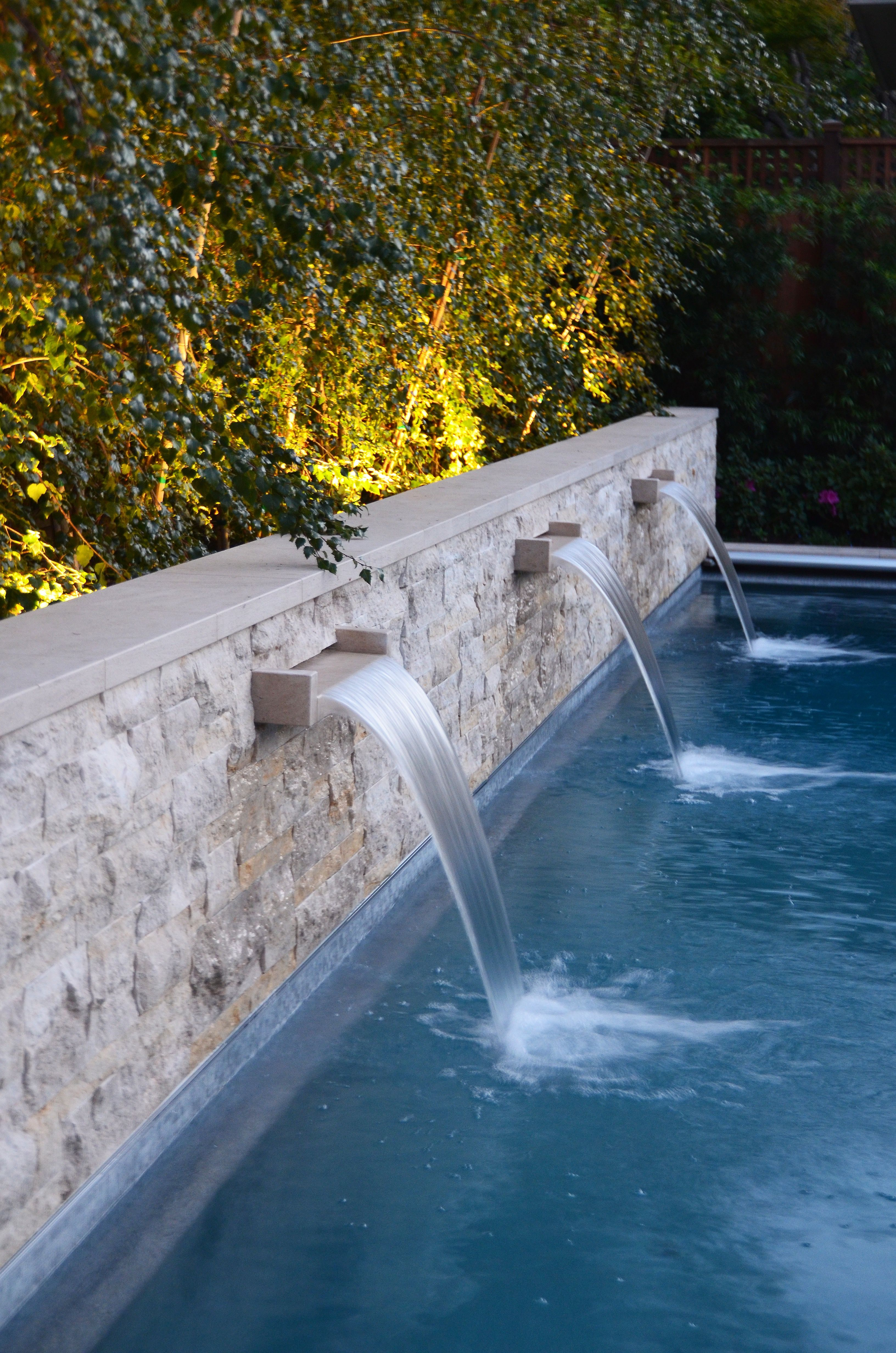 Stone Wall Amp Pool Water Feature Fountain