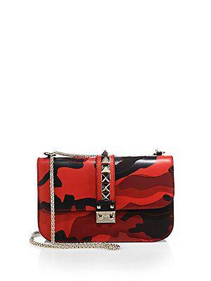 Valentino Camouflage Rocklock Shoulder Bag $2495