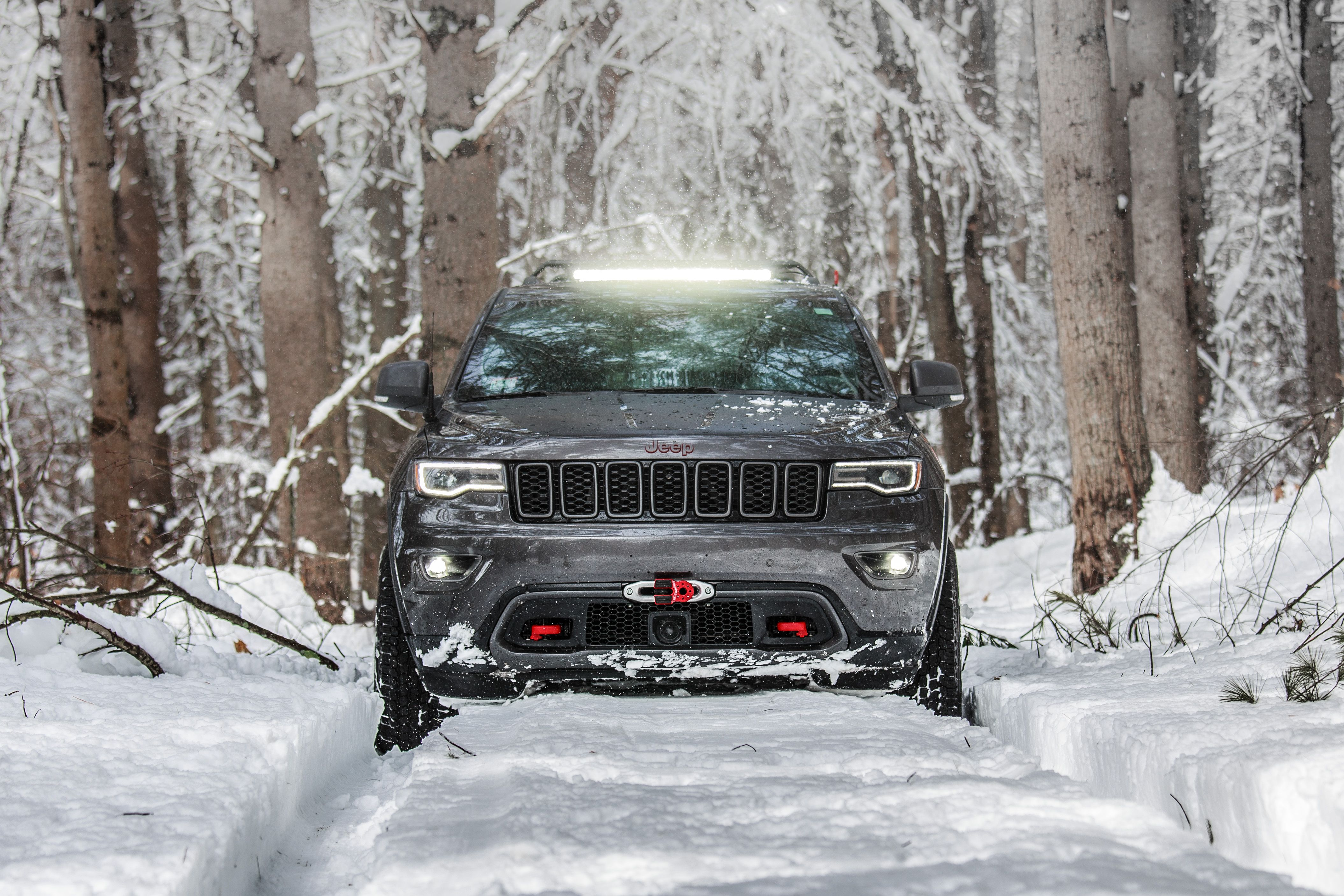 Wk2 Trailhawk Led Bar Winch Grand Cherokee Grand Cherokee