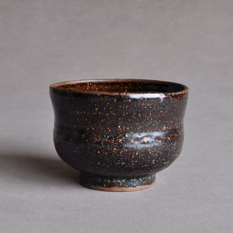 Japanese Galactic Iron-Glazed Tea Bowl Edo period