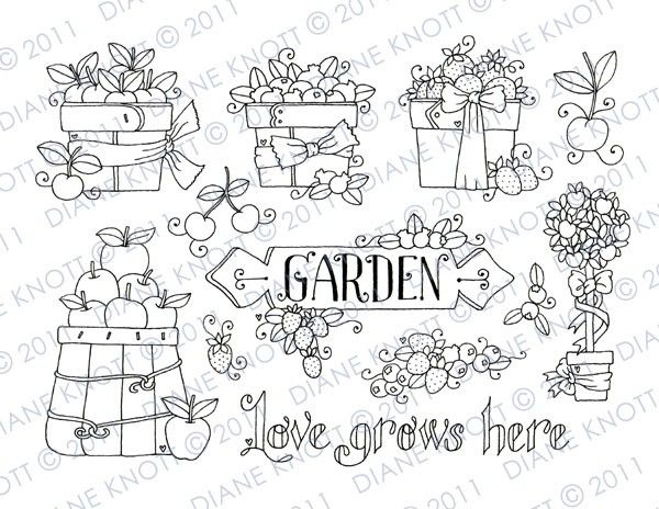 Digital Stamp / Embroidery Pattern - Love Grows Here. $3.00, via Etsy.