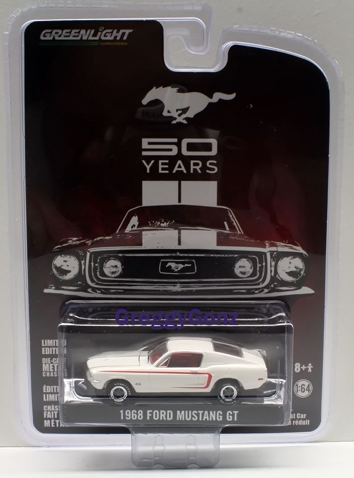 1 64 Greenlight Anniversary Collection 2 1968 Ford Mustang Gt