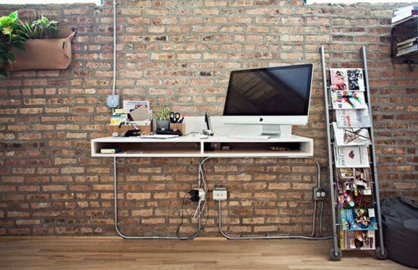 Designs uniques de bureau suspendu déco bureaux