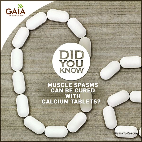 Muscle-spasms and numbness which strikes out of the blue must be addressed quickly. These symptoms of calcuim deficiency may be easily treated with GAIA Calcium Tablets. #HealthTips #GaiaToTheRescue