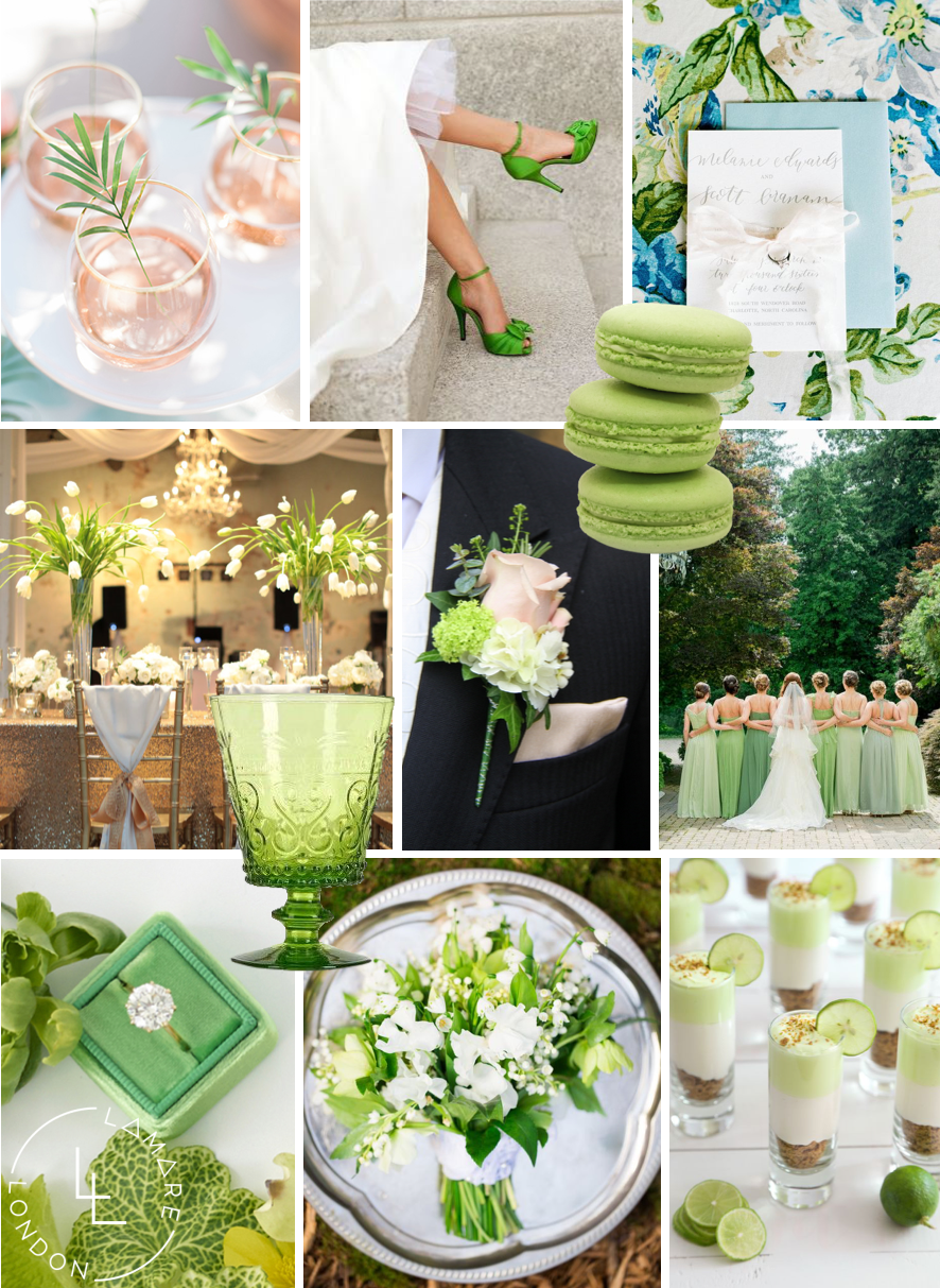 Pantone Color Of The Year 2017 Greenery Moodboard Wedding Inspiration