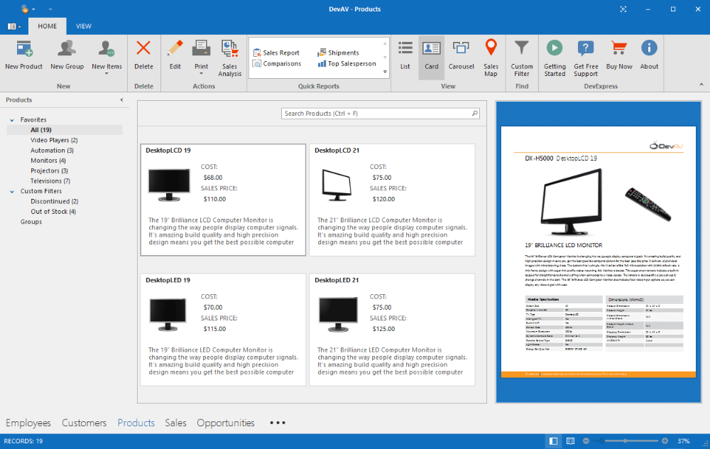 Download Devexpress Components For Net V19 2 6 20041 Full Source User Interface Interface Business Solutions