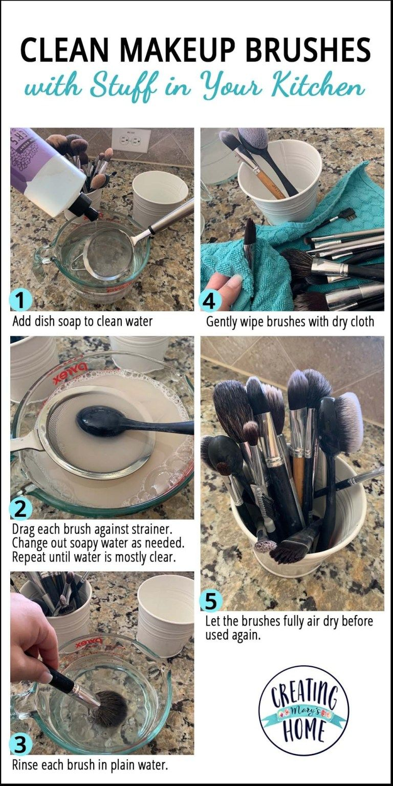 Photo of Clean Makeup Brushes with Stuff in Your Kitchen – creatingmaryshome.com