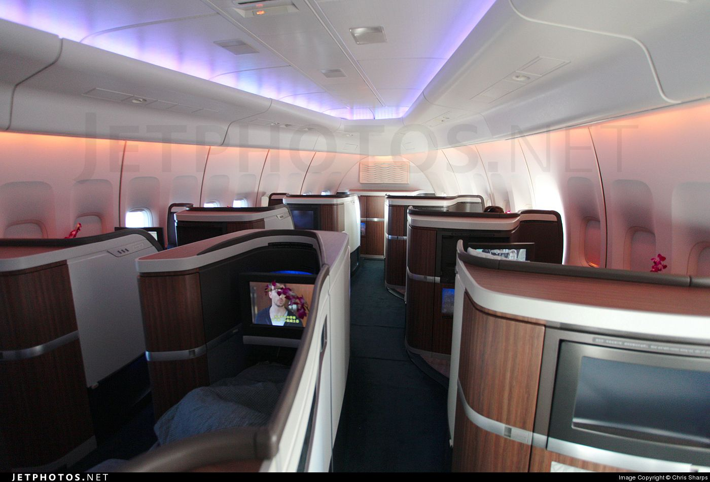 Cathay Pacific Boeing 747 first class