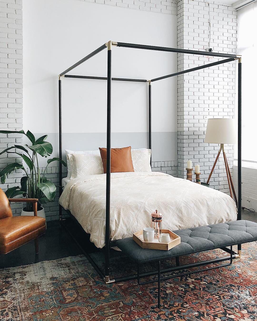 billie queen canopy bed on 13 8k likes 113 comments mydomaine mydomaine on instagram we would always press the snooze button if home decor bedroom bedroom design classic bedroom pinterest
