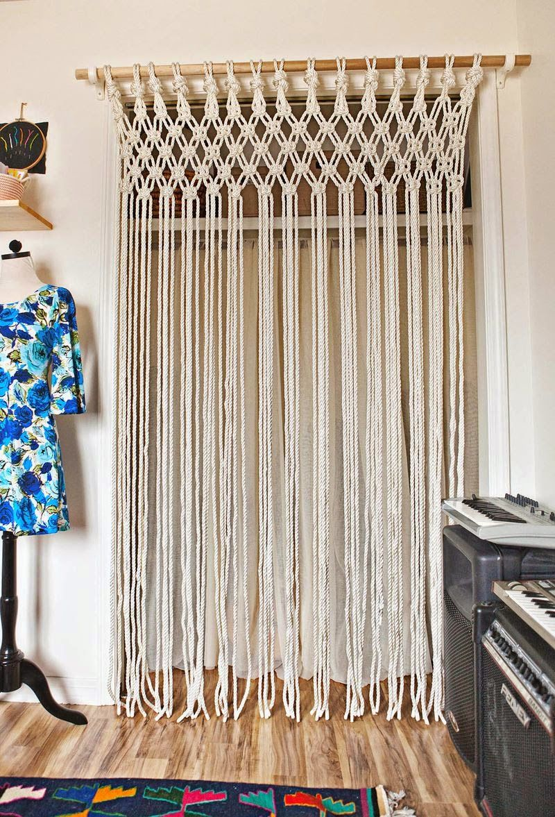 Photo of DIY: Make a macrame curtain your self