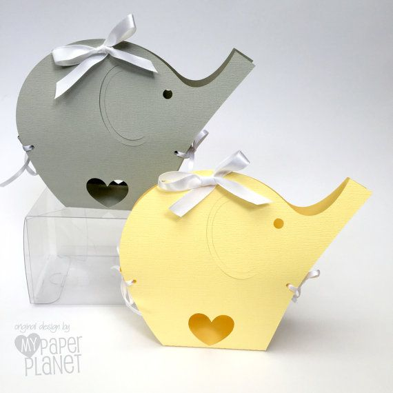 Pastel yellow or light gray elephant baby shower gift boxes by pastel yellow or light gray elephant baby shower gift boxes by mypaperplanet negle Choice Image