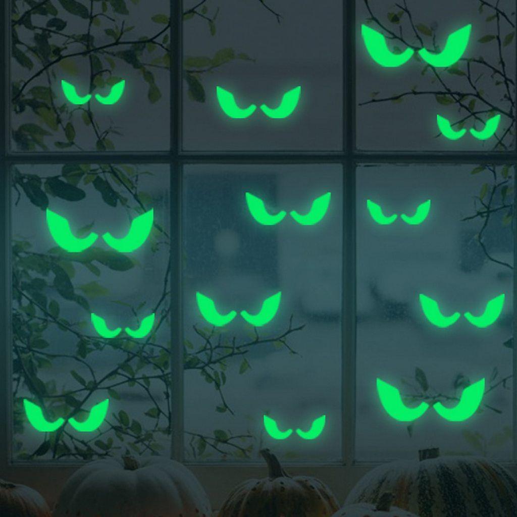 Eyes Glowing In The Dark Wall Glass Sticker Halloween Decoration