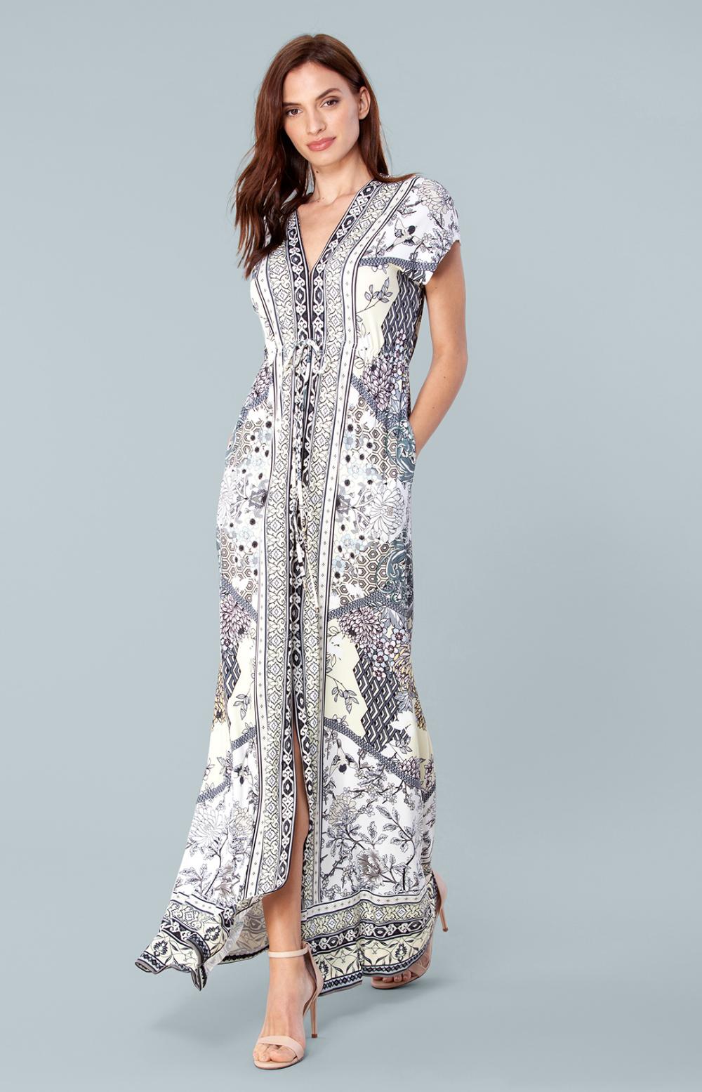 Hale Bob Orchid Nouveau Paisley Dress | Hale bob dresses