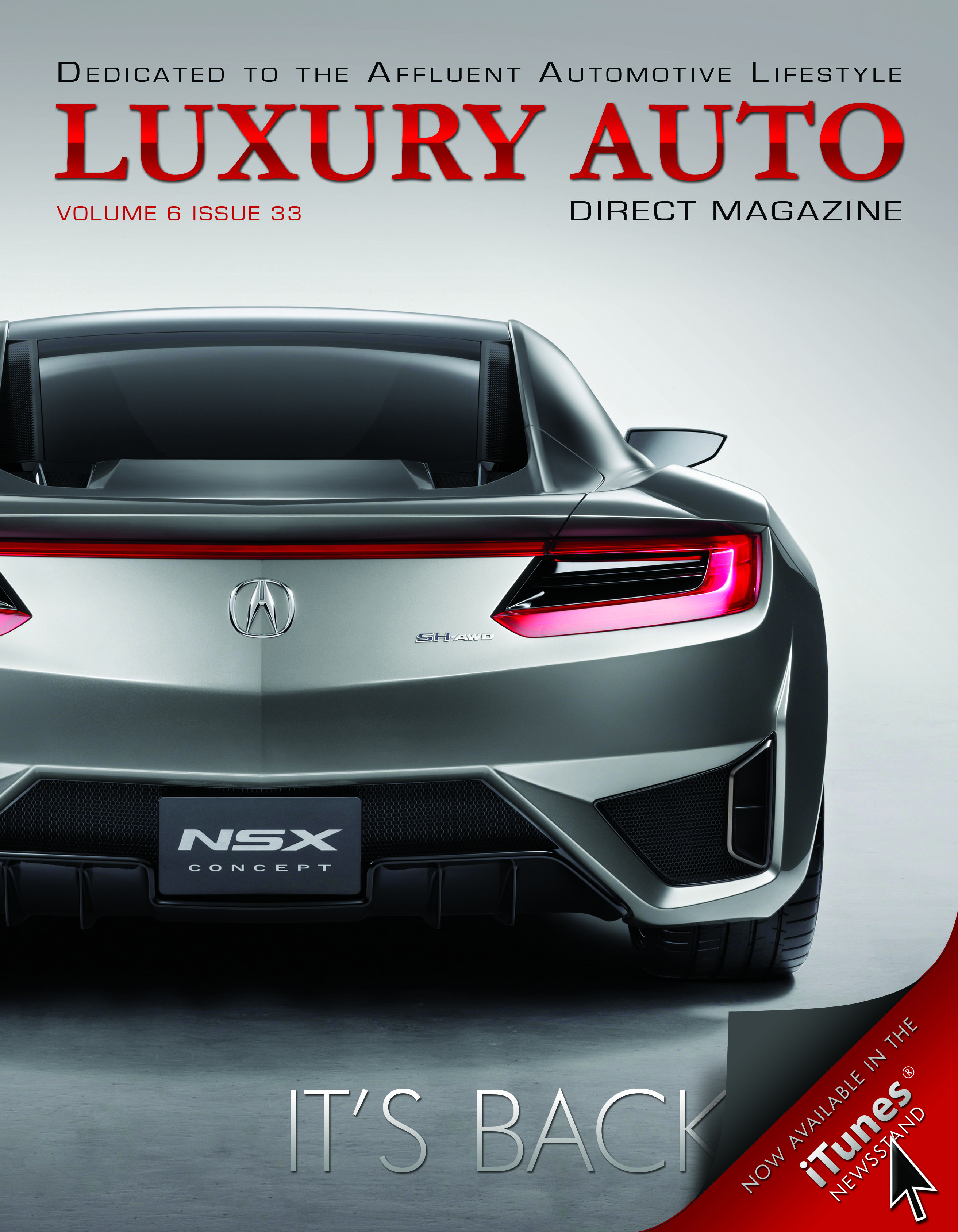 Issue 33 featuring the Acura NSX Concept Nsx, Acura nsx