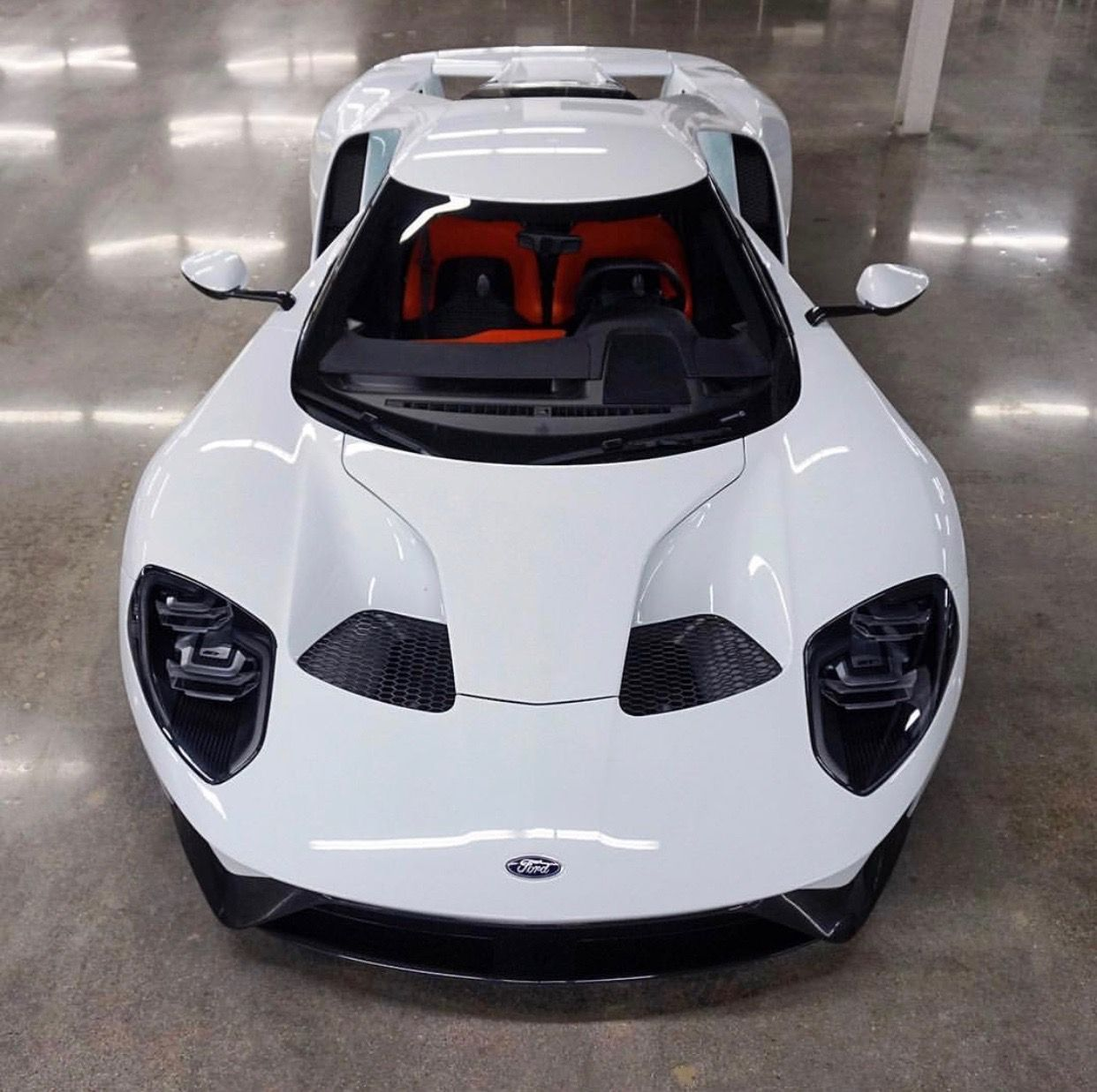 Ford Gt Painted In White Photo Taken By Fordgtforum On Instagram