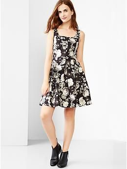 Tank fit & flare dress | Gap - i also want the shoes