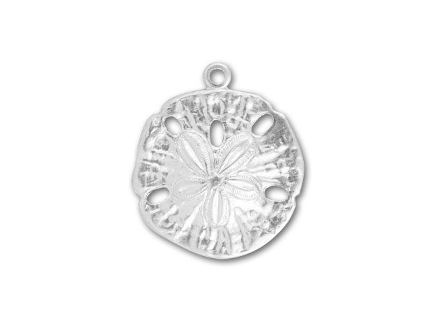 Sterling Silver Large Sand Dollar Charm | Bead jewellery ...