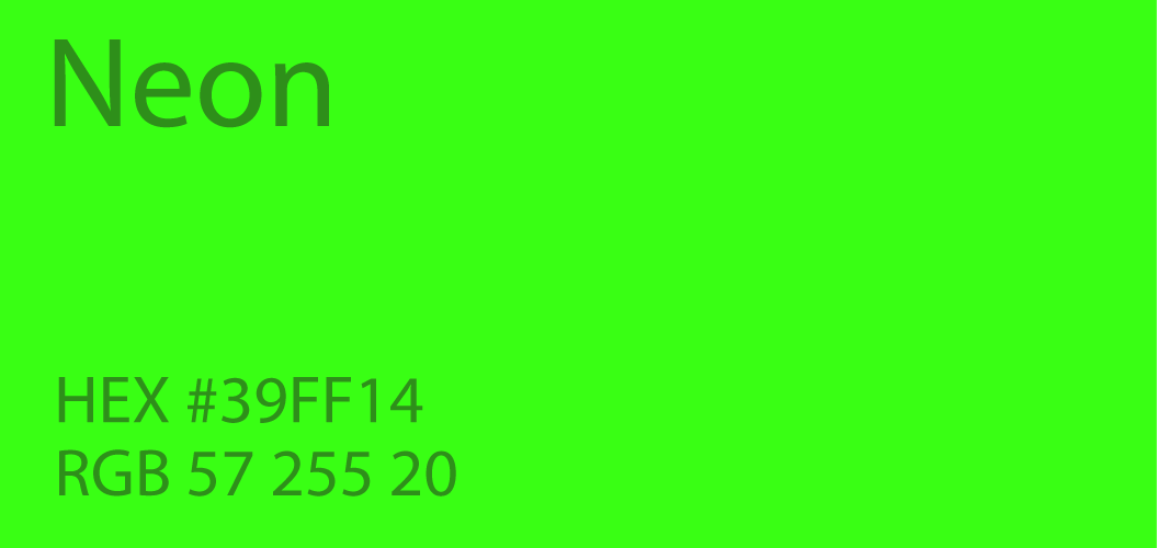 Neon Green Color Paint Code Swatch Chart Rgb Html Hex