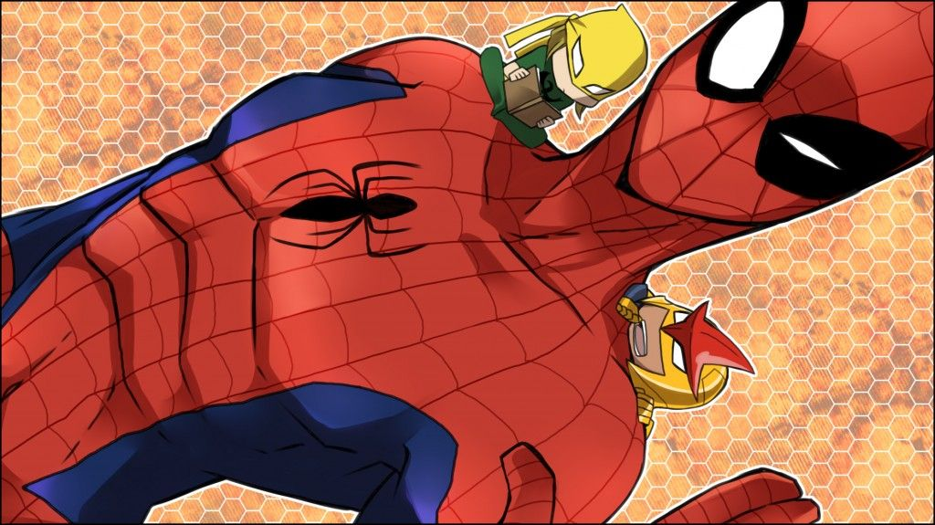 Ultimate Spiderman Iron Fist Ultimate Spider Man Wallpaper