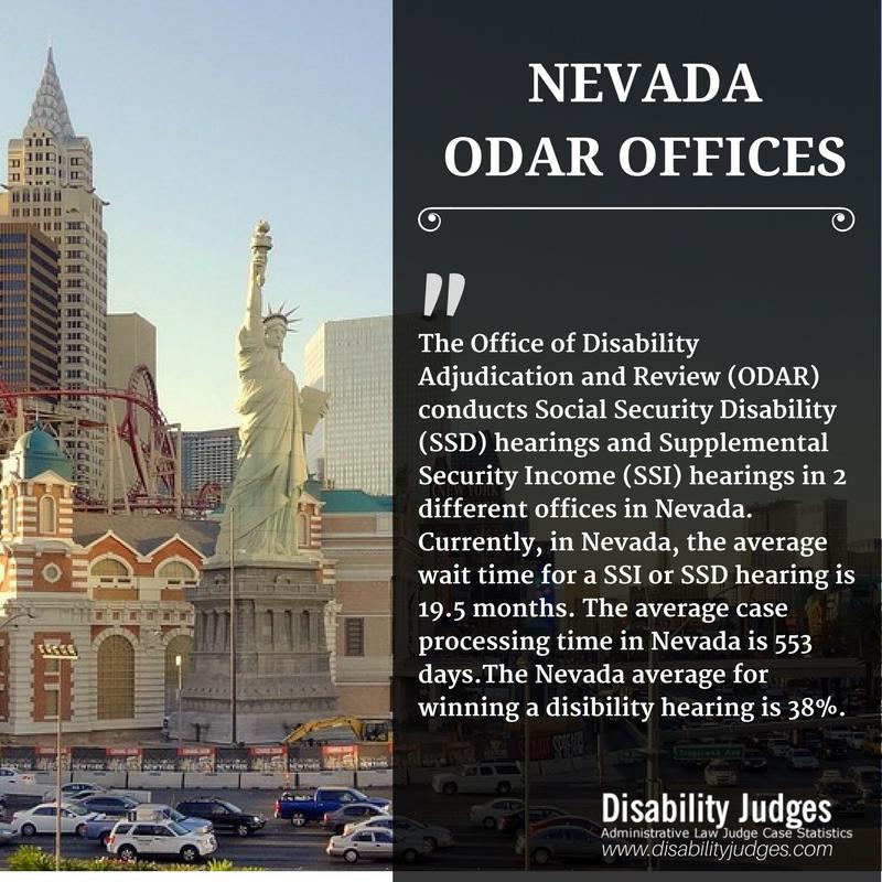 Nevada Odar Offices Disability Judges Nevada Social Security Disability Supplemental Security Income