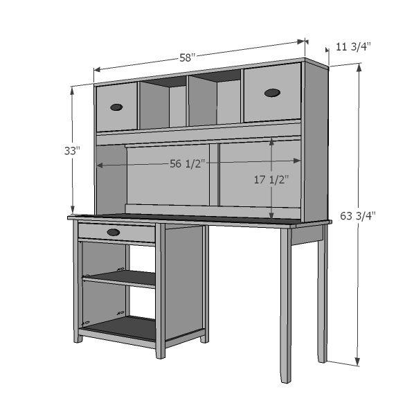 Kitchen Craft Cabinet Sizes: Build A Channing Desk Hutch
